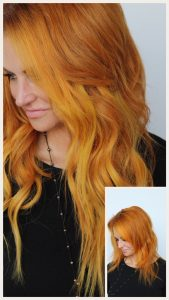 After image of long full thick red wavy hair extensions-hair salon solana beach -Salon LG-+1 858 344 7865.